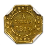 1853 BG-519 Liberty Octagonal One Dollar Gold AU-58 NGC