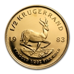 1983 1/2 oz Proof Gold South African Krugerrand