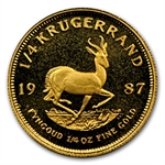 1987 1/4 oz Proof Gold South African Krugerrand