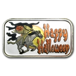 1 oz Headless Horseman Enameled Silver Bar (w/Gift Pouch & Cap)