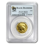2008-W 1/4 oz Gold Buffalo MS-70 PCGS (Black Diamond)