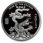 2 oz Year of the Dragon Silver Round .999 Fine Bullion