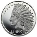 2 oz $10 Indian Head (Replica) Silver Round .999 Fine
