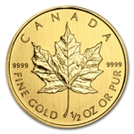 2012 1/2 oz Gold Canadian Maple Leaf