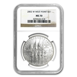 2002-W West Point Bicentennial $1 Silver Commem - MS-70 NGC