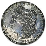 1890-CC Morgan Dollar - Extra Fine Vam-4 Tailbar Variety Top-100