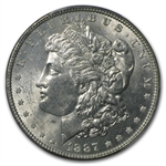1887/6 Morgan Dollar - BU VAM-2 Overdate Top-100