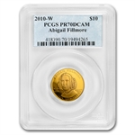 2010-W 1/2 oz Proof Gold Abigail Fillmore PR-70 PCGS DCAM