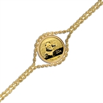 2014 1/20 oz Gold Panda Bracelet (Polished Rope)
