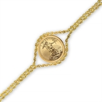 2013 1/10 oz Gold Eagle Bracelet (Polished Rope)