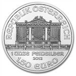 2012 1 oz Silver Austrian Philharmonic - Brilliant Uncirculated