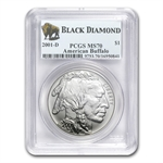 2001-D Buffalo - Black Diamond $1 Silver Commemorative MS-70 PCGS