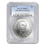 2009-P Abraham Lincoln $1 Silver Commemorative MS-69 PCGS