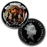 2011 4 x 1 oz Silver Real Pirates of the Caribbean Treasure Chest