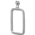 Sterling Silver Screw-Top Plain-Front Bezel (For 1 oz Bars)