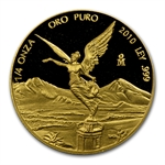 2010 1/4 oz Gold Mexican Libertad - Proof