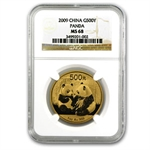 2009 1 oz Gold Chinese Panda MS-68 NGC