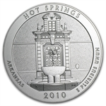2010-P 5 oz Silver ATB Hot Springs (w/box & CoA)