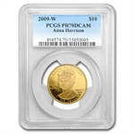 2009-W 1/2 oz Proof Gold Anna Harrison PR-70 PCGS DCAM