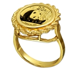 2013 1/20 oz Gold Panda Ring (Rope-Prong)