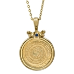 Israel Wheel of Blessings Gold Pendant - AGW 0.0917 oz