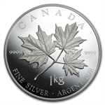 2011 Kilo Silver Canadian $250 Maple Leaf Forever (W/Box & COA)
