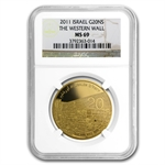 2011 Israel 1 oz Gold Western Wall .9999 MS-69 NGC