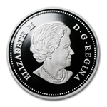 2012 1 oz Silver Canadian $20 Diamond Jubilee 60th Anniv. Proof