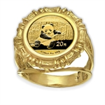 2014 1/20 oz Gold Panda Ring (Bamboo-Prong)