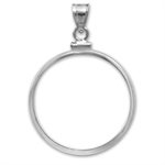 Sterling Silver Screw Top Plain Front Coin Bezel - 20mm
