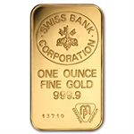 1 oz Swiss Bank Corporation Gold Bar .9999 Fine
