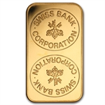 Swiss Bank Corporation 1 oz Gold Bar - .9999 Fine