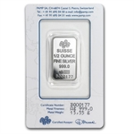 1/2 oz Pamp Suisse Silver Bar - Fortuna (In Assay)