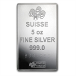 5 oz Pamp Suisse Silver Bar - Fortuna (In Assay)
