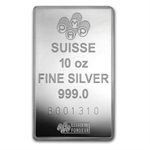 10 oz Pamp Suisse Silver Bar - Fortuna (No Assay, No Capsule)