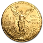 Mexico 1922 50 Pesos Gold Coin - Brilliant Uncirculated