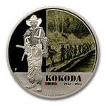 2012 1 oz Proof Silver Battle of Kokoda Coin - Australian History