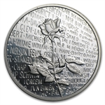 1/2 oz Vietnam Veterans Memorial Platinum Round