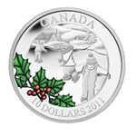 2011 1/2 oz Silver Canadian $10 Little Skaters (W/Box & COA)