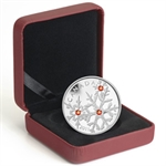 2011 1 oz Silver Canadian $20 Crystal Snowflake - Red (W/Box)