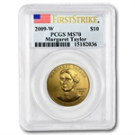 2009-W 1/2 oz Uncirculated Gold Margaret Taylor MS-70 PCGS (FS)