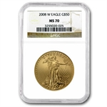 2008-W 1 oz Burnished Gold American Eagle MS-70 NGC