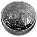 British Virgin Islands 2006 $500 - 5 Kilo Silver Proof Columbus