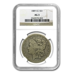 1889-CC Morgan Dollar Almost Good-3 NGC