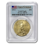 2012 1 oz Gold American Eagle MS-70 PCGS (First Strike)