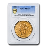 1884-S $20 Gold Liberty Double Eagle - MS-62 PCGS