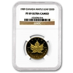 1989 1/2 oz Proof Gold Maple Leaf PF-69 NGC