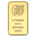 2.5 gram Holy Land Mint Dove of Peace Gold Bar(In Assay) New Bars
