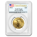 2012 1/2 oz Gold American Eagle MS-70 PCGS (First Strike)