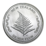 1 oz Silver New Zealand Silver Fern .999 Fine